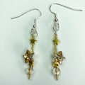 gold star Swarovski earrings