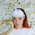 ivory feather headdress
