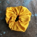 sunflower yellow scrunchy