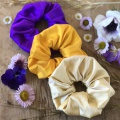 over sized silk scrunchies