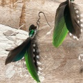 green feather earrings holly young