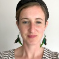 green parrot feather earrings