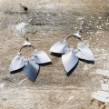 silver leather earrings by Holly Young