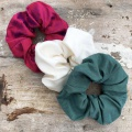 ruby, ivory and forest scrunchies