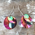 round sequin drop earrings