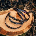 woodland feather hair bands