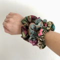 cotton print scrunchies