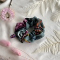Heather hedgerow print scrunchie