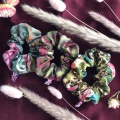 Botanical print scrunchies