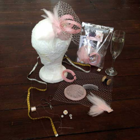 Soft Pink Fascinator Making Kit