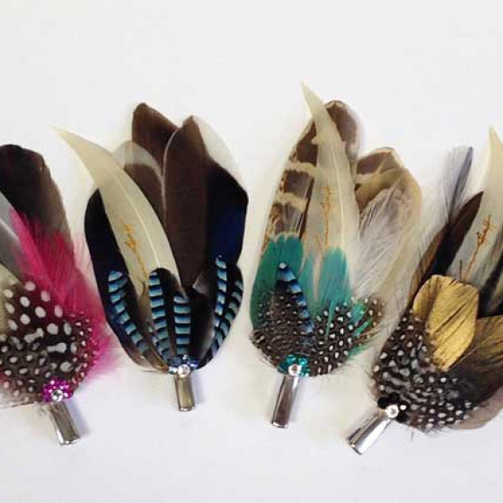 Feather Hair & Lapel Clips