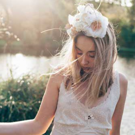 'Paradise' Floral Crown Headpiece - Blush