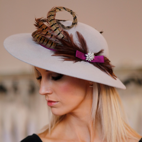 'Pentillie' luxuriously soft vintage felt hat