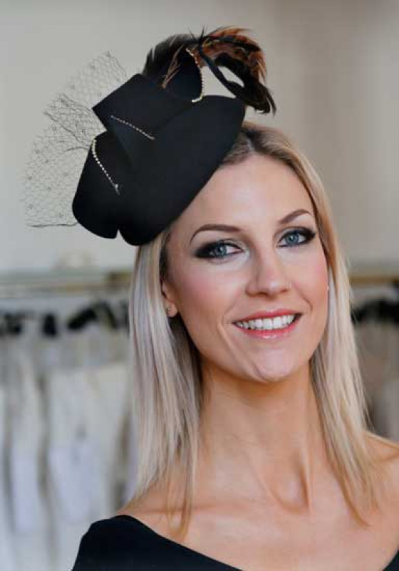 'Boconnoc' chic cocktail hat