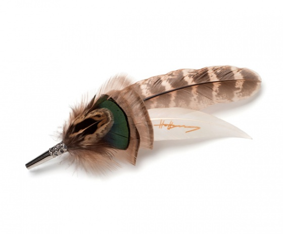 Pheasant Feather Brooch Pin