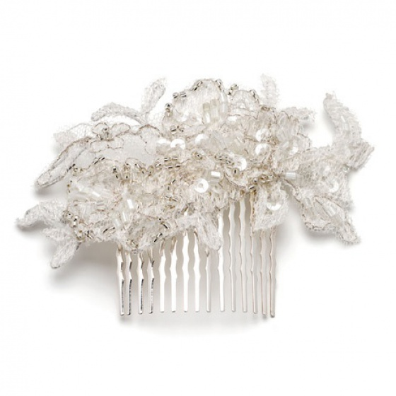 'Morgan' small silver hair comb