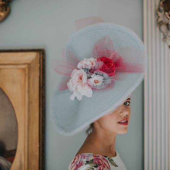 'Madame butterfly' statement hat