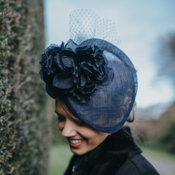 'Armscote' navy occasion hat