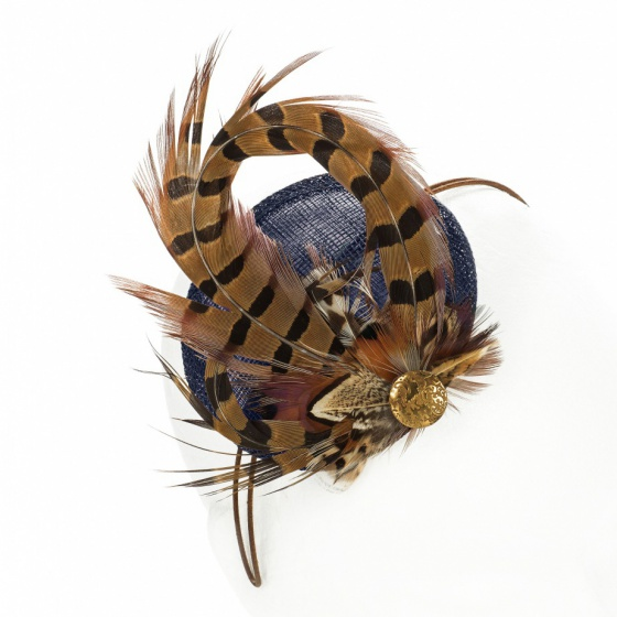 'Kate' Pheasant Fascinator Navy