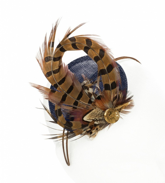 Pheasant Fascinator Navy