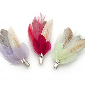 'Milly' Feather Hair & Courage Clips
