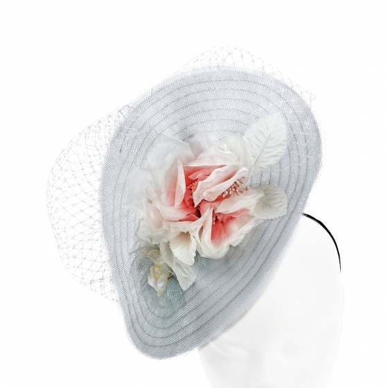 'Mademoiselle Butterfly' hat silver & blush