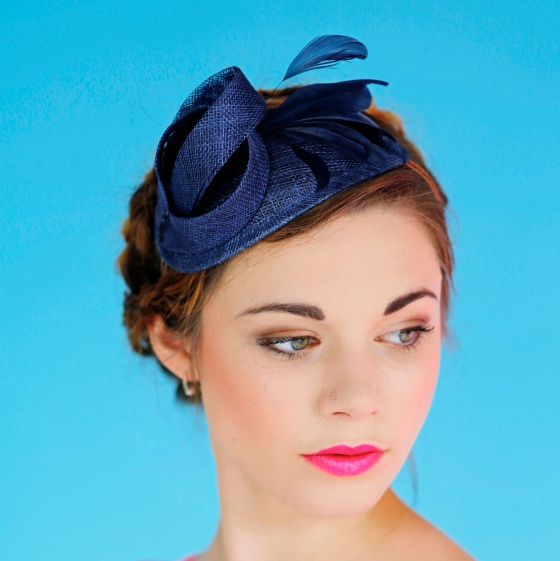 'Burgh' Art Deco Mini Hat Navy