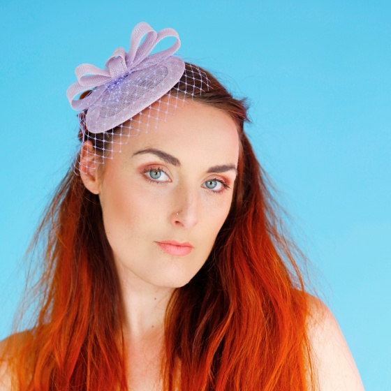 'Loretta' Lilac Headpiece
