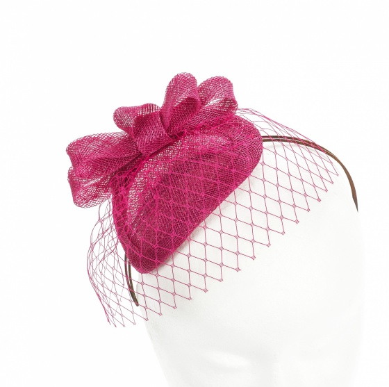 'Loretta' Fuchsia Headpiece