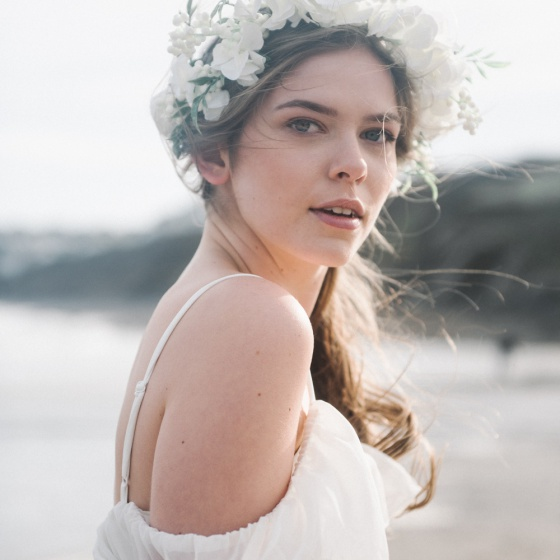 'Rosenwyn' Ivory flower crown