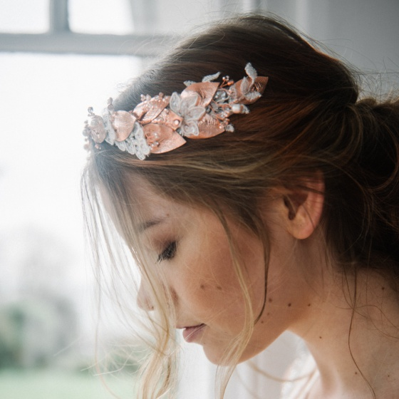 'Thaleia' rose gold crown