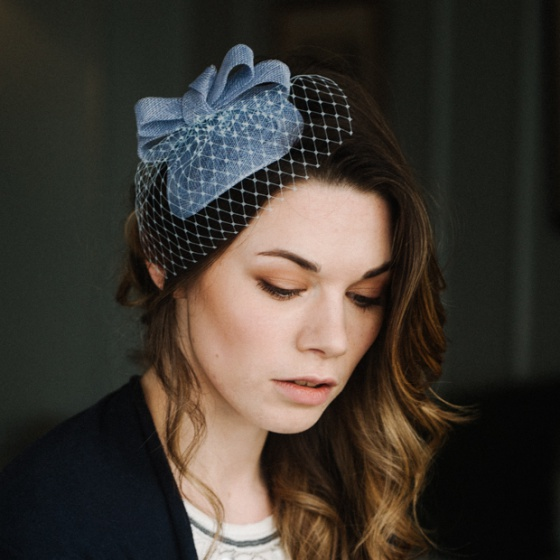 'Loretta' Bluebelle headpiece