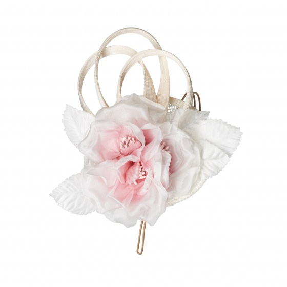 'Lamorran' blush flower fascinator