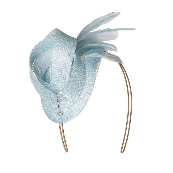 'Burgh' Art deco hat light blue