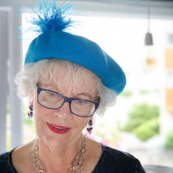 'Bacall' turquoise beret