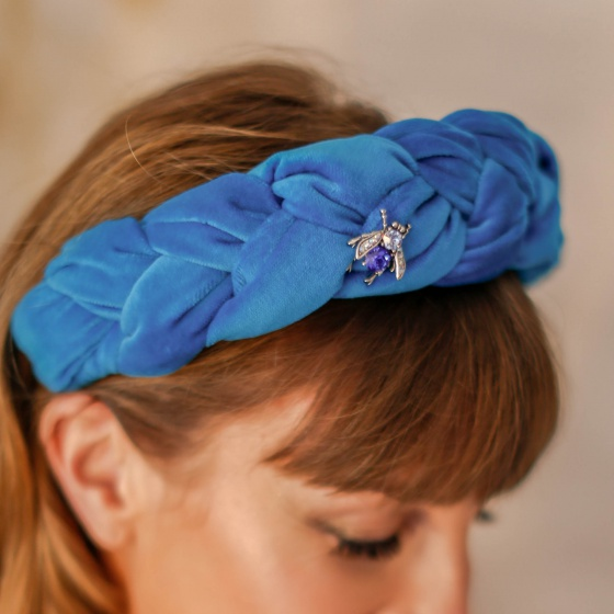'Anice' Velvet Braided Headband