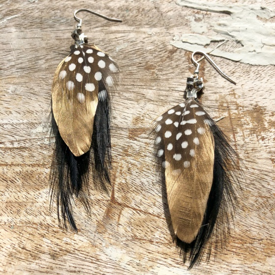 'Molly Star' feather earrings