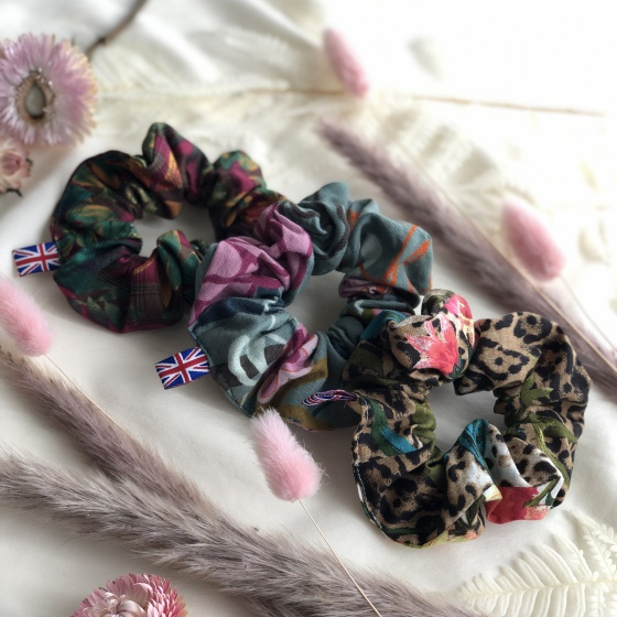 'Silva' cotton scrunchies