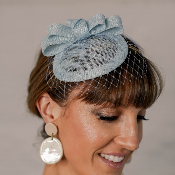 Customizable Duck Egg Blue Headpiece