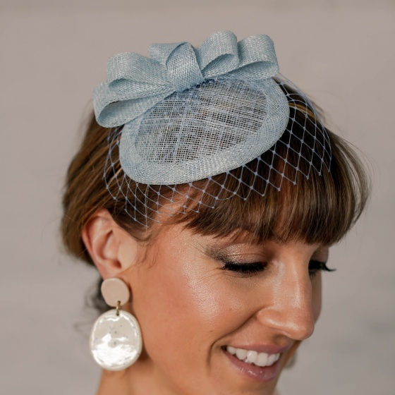 'Loretta' Light Blue Headpiece
