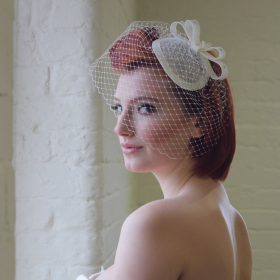 'Loretta' Ivory Headpiece