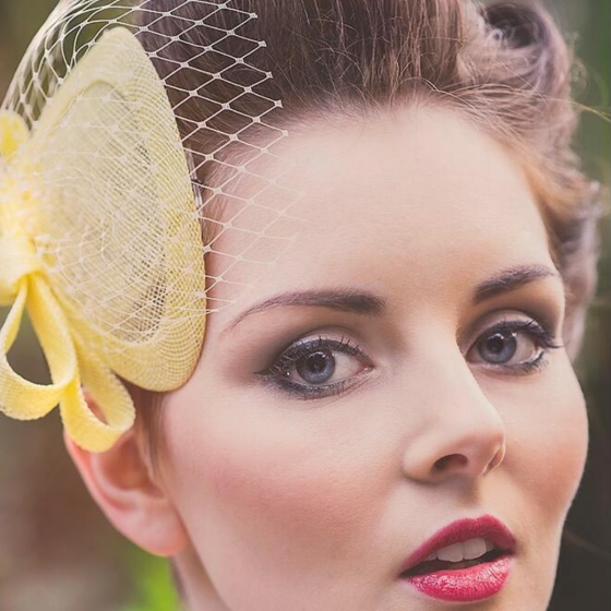 'Loretta' Yellow Headpiece