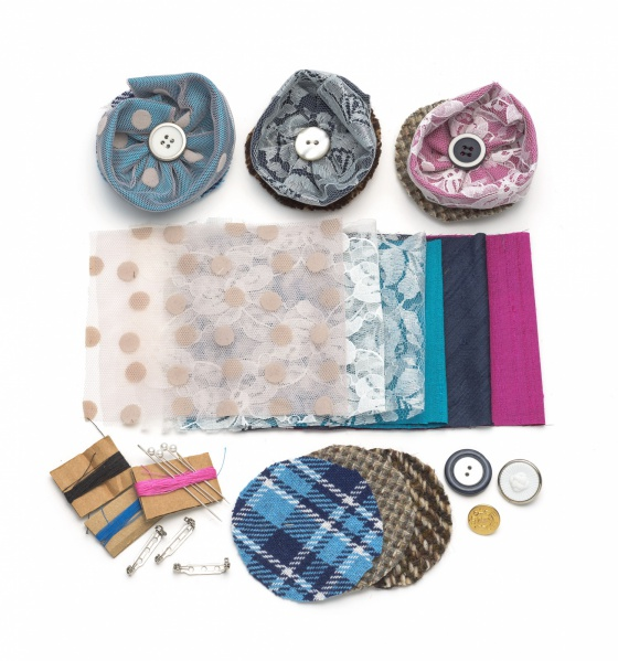 DIY Silk and Lace Brooch Making kit