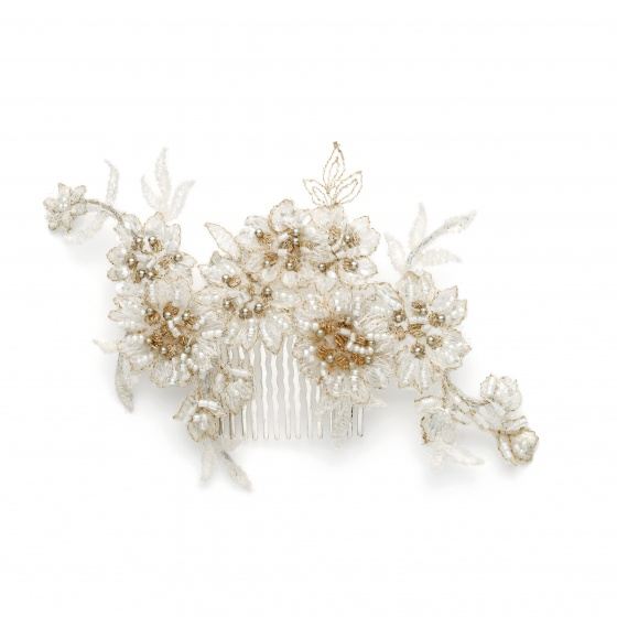 'Ditta' Pearly Lace Hair Comb