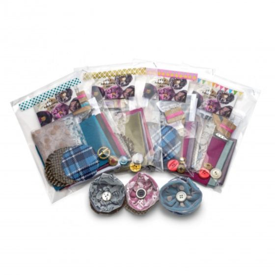 Silk & Lace Brooch Making Kits - Craft / Hen Party Bundle