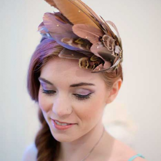 'Aves' Rose Gold Headpiece
