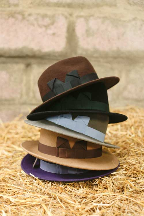 womens felt trilbys in all colours