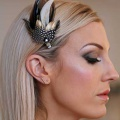 gold-&-blaco-feather-hair-clip-Holly-Young