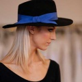 black-fedora-hat-electric-blue-bow-Holly-Young