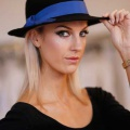 black-womens-trilby-bright-blue-band-Holly-Young
